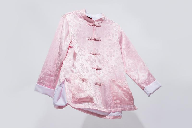 CLOT Rose Gold Silk Royale Apparel Collection Release Jacket Robe Shirt Pants Shorts info Buy Price Edison Chen Kevin Poon