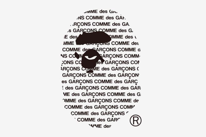COMME des GARcONS BAPE Osaka Space menswear streetwear spring summer 2020 collection collaboration logo Rei Kawakubo Shinsaibashi april