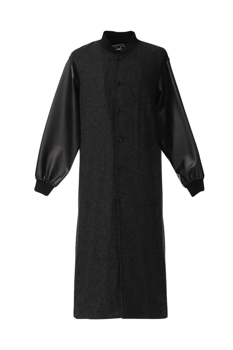 COMME des GARÇONS cdgcdgcdg 1986 Staff Coat Wool Nylon Release Information Online $510 USD rei kawakubo coats printemps ete '86 closer look black outerwear CDG
