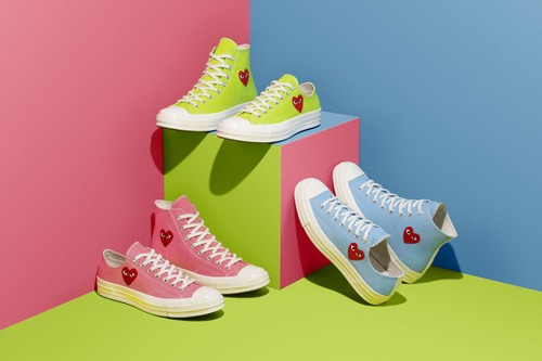 COMME des GARÇONS PLAY x Converse Chuck 70 Appears in Summer-Ready Colorways