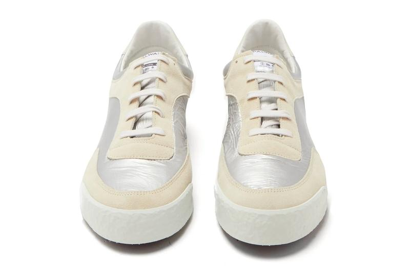 COMME des GARcONS SHIRT Spalwart Pitch Low cdg menswear streetwear footwear shoes trainers kicks runners sneakers silver leather spring summer 2020 collection rei kawakubo