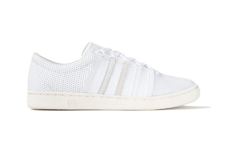 commonwealth k-swiss classic 66 release information buy cop purchase white leather suede mesh textile synthetic fabric material details