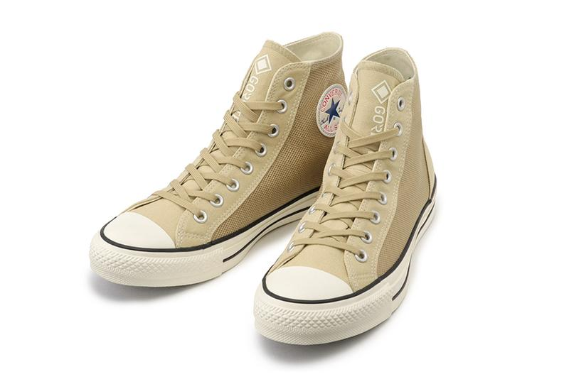 Converse All Star 100 GORE TEX Hi Sand Beige Black waterproof canvas heritage footwear menswear streetwear sneakers shoes trainers runners hi top spring summer 2020 collection