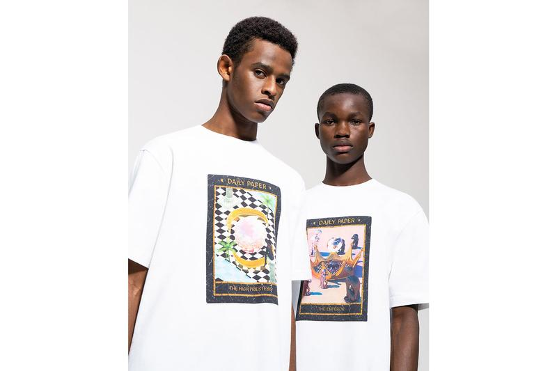 Daily Paper Visual Artist David Alabo Tarot Inspired limited edition Capsule collaboration ss20 spring summer 2020 collection Afro futuristic Surrealism Amsterdam the Magician High Priestess Empress Emperor Hierophant