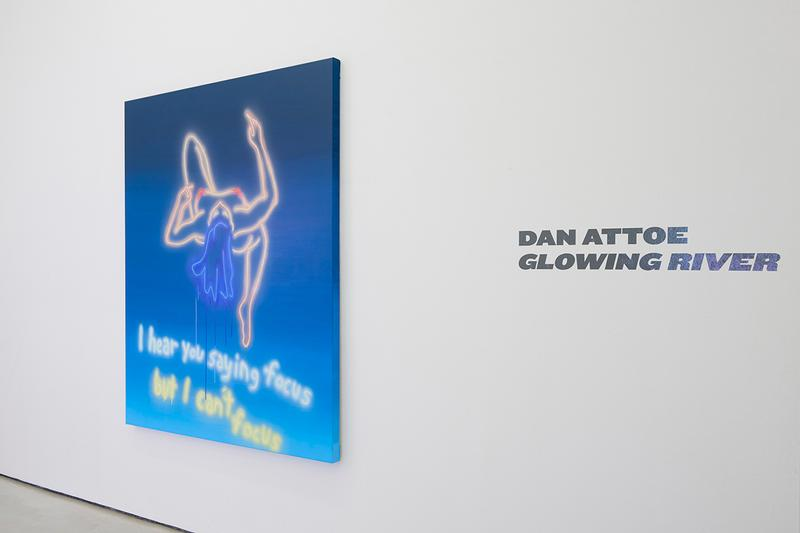 dan attoe glowing river exhibition the hole nyc artworks contemporary art paintings