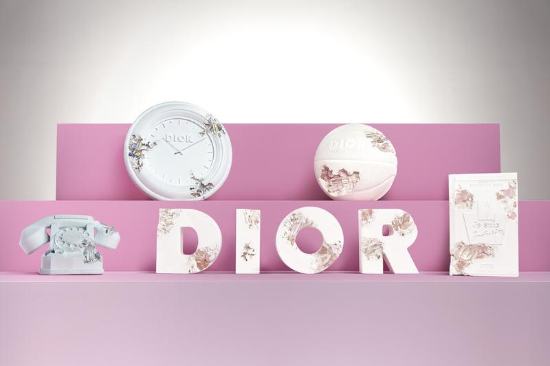 "Dior x Daniel Arsham Limited Edition Art Objects Collaboration Sculptures Telephone Clock 'Je suis couturier' Basketball ""DIOR"" Pink Blue Quartz"
