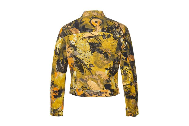 Dries Van Noten Floral Printed Jacket Yellow Orange Green