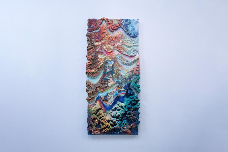 """Dylan Gebbia-Richards """"Viridescent"""" Exhibition GR Gallery Three-Dimensional Wax Paintings Colorful"""