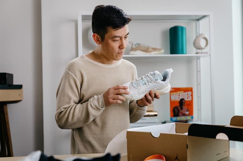 "Edison Chen Jordan Brand Delta SP ""Sail"" Unboxing Los Angeles Nike Jordan Brand React Sneakers kicks footwear"