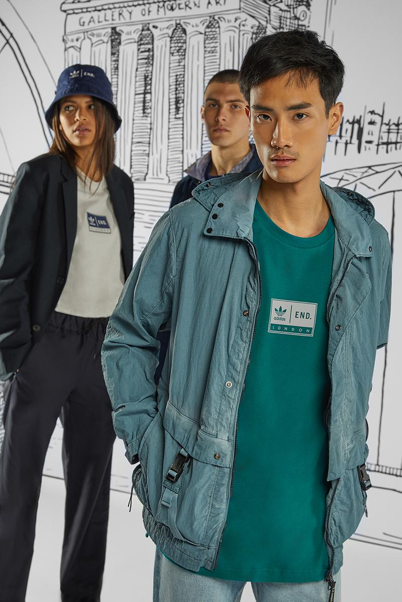 """END. Clothing x adidas """"Three Bridges"""" 15th Anniversary Collection Capsule Drop Release Information Footwear Sneakers Three Stripes New York Topanga Grainger London Glasgow Newcastle Clothing Accessories Stores"""