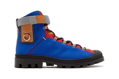Eye/LOEWE/Nature Releases Vivid Leather and Canvas Hiking Boots