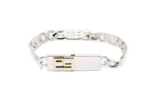Fendi Crafts a FF Baguette Chain-Link Bracelet