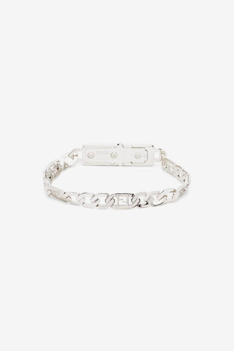 Fendi FF Baguette Chain-Link Bracelet Release Info Buy Price Gold Silver