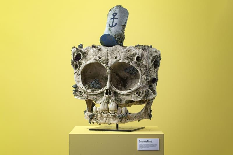 Filip Hodas Cartoon Fossil Skull Series Canis Goofus Anas Scroogius Spongia Bobae Homo Popoculis Mus Minnius Canaria Tweetea CG 3D Illustration