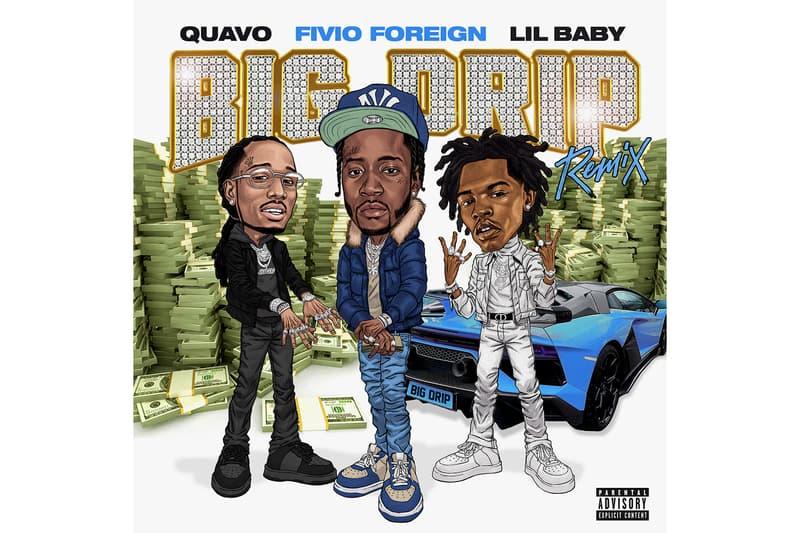 "Fivio Foreign ""Big Drip"" Remix Feat. Quavo & Lil Baby hip-hop rap atlanta trap nyc brooklyn drill spotify apple music listen now"