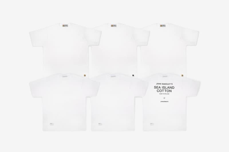 Fragment Design John Smedley T shirt Pack minimal essentials plain white tee black three set hiroshi fujiwara sea island cotton logo graphic print branding twin thunderbolts basics