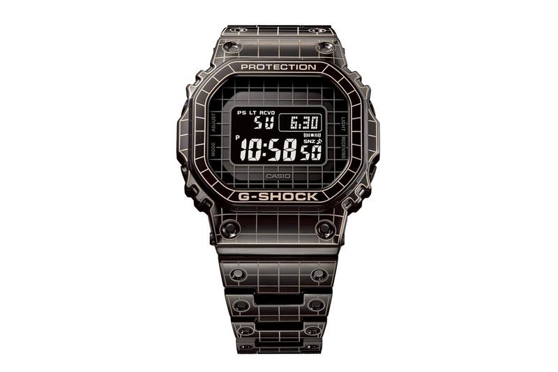casio g shock full metal casing case gmw b5000 series laser cutting etching grid pattern watches accessories Release Info