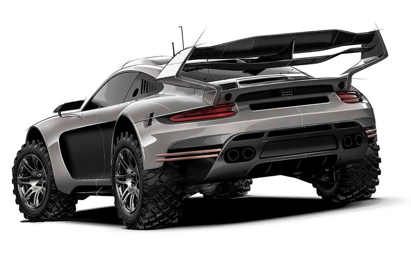 Gemballa Avalanche 4x4 is a Porsche 911 Off-Roader First Look Prototype Concept Sketches Four Wheel Drive Off Roading Tough Terrain Sports Car Supercar Development German Automotive Engineering Announcement