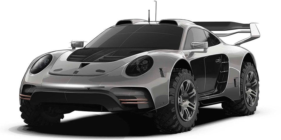 Gemballa's Avalanche 4x4 Off-Roader Concept Puts Porsche's 911 on Stilts