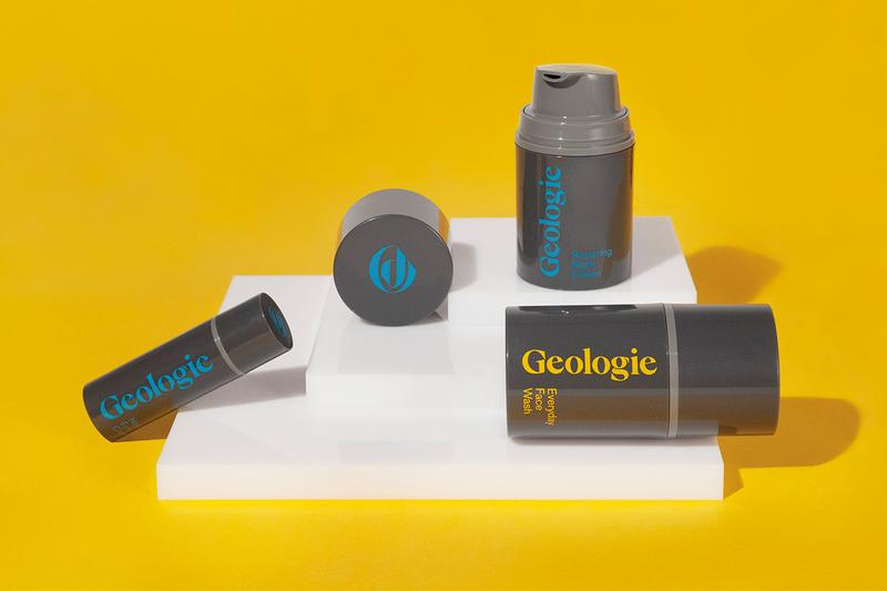 Geologie Men's Skincare Routine Everyday Face Wash Vital Morning Face Cream Repairing Night Cream Nourishing Eye Cream.