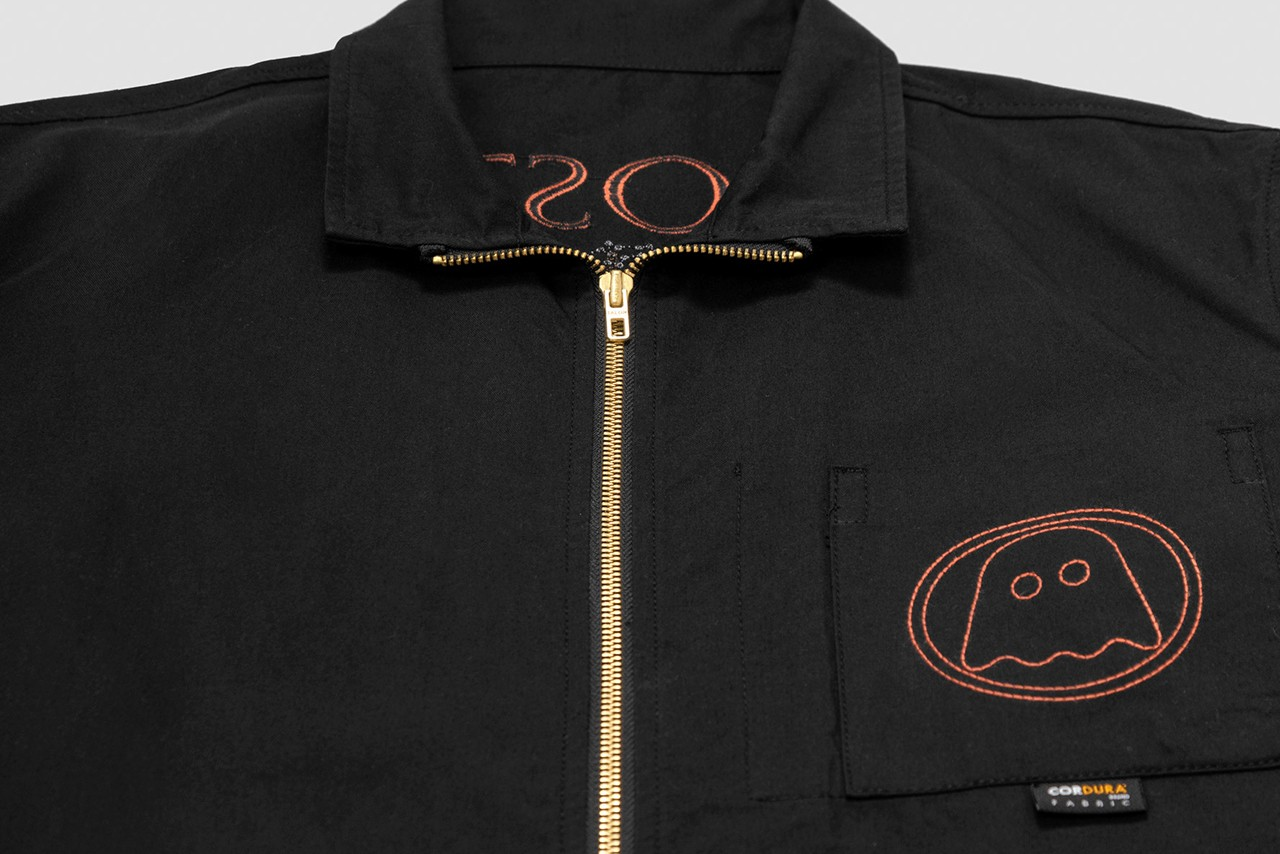 Ghostly International x Garbstore 20th Anniversary Collaboration collection coverture couverture shirt over zipper pattern logo embroidery