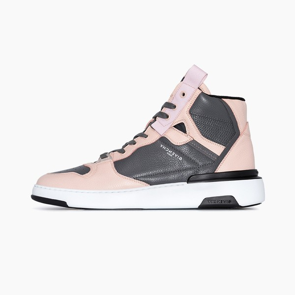 "Givenchy Wing Leather High Top Sneakers ""Pink/Gray"""