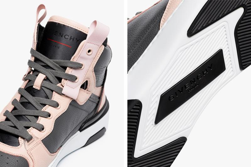 "Givenchy Wing Leather High Top Sneakers ""Pink/Gray"" release info drop date price details browns w2c"