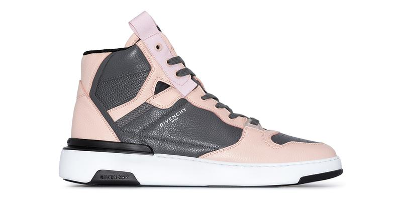 """Givenchy Wing Leather High Top Sneakers """"Pink/Gray"""" release info drop date price details browns w2c"""