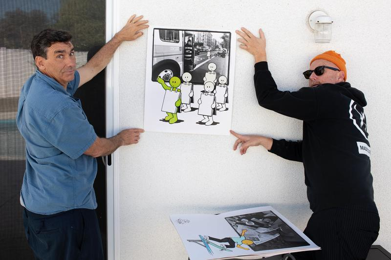 lance mountain robbie jeffers glad to bee and idiot exhibition the close enough gallery