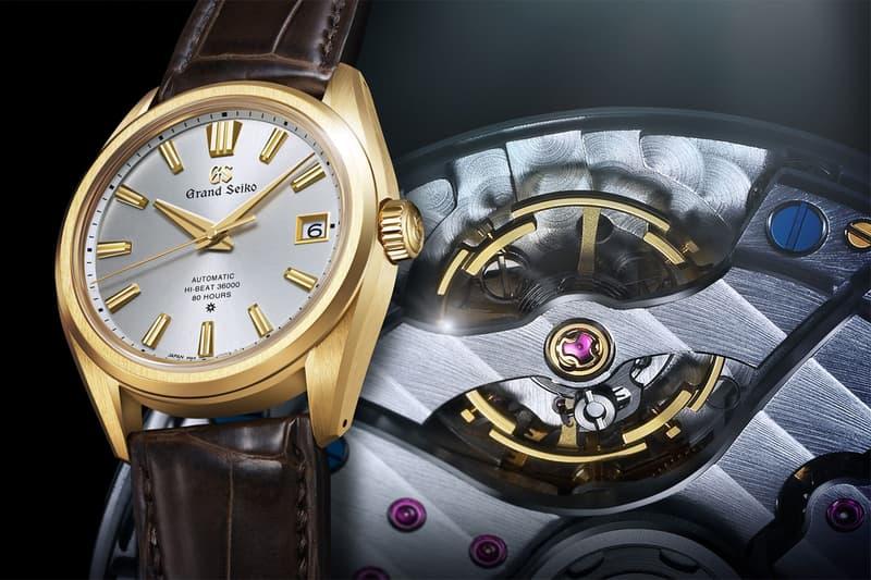 grand seiko watches accessories 60th anniversary limited edition 18k gold 9SA5 caliber movement