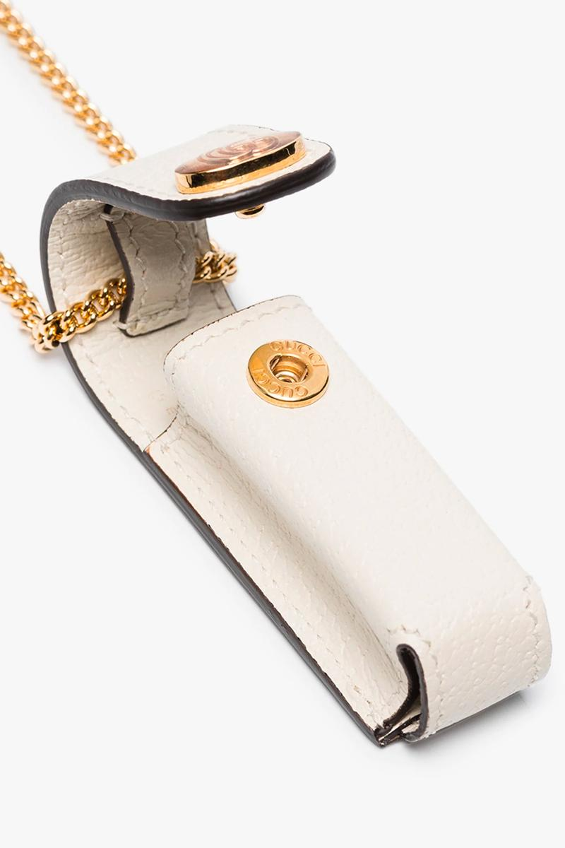 Gucci White Leather Logo Lighter Pouch Release Info Buy Price White Gold