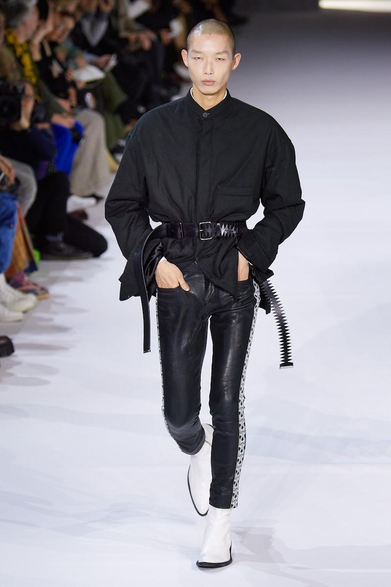 Haider Ackermann Fall/Winter 2020 Paris Fashion Week Runway Show Presentation Co-Ed Menswear Womenswear Looks Columbian-Born Paris-Based Eponymous Label Designer