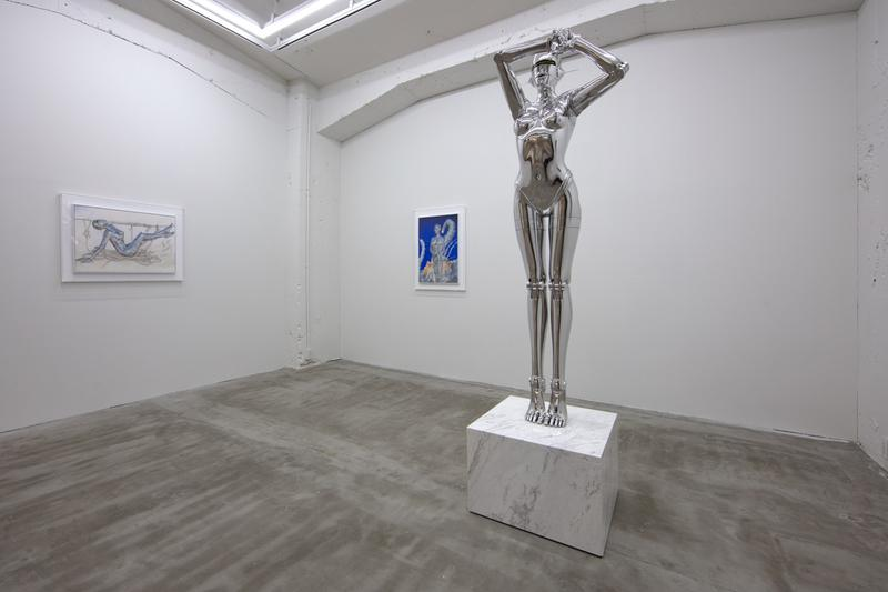 "Inside Hajime Sorayama ""Sex Matter"" & ""T-Rex"" Exhibition NANAZUKA Gallery Feminine Robots Sculptures Paintings T-Rex Dinosaurs"