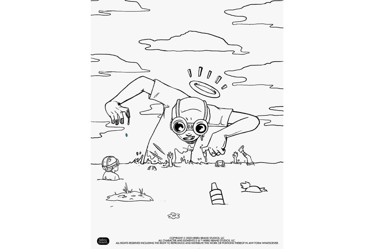 - Hebru Brantley Coloring Book Pages HYPEBEAST
