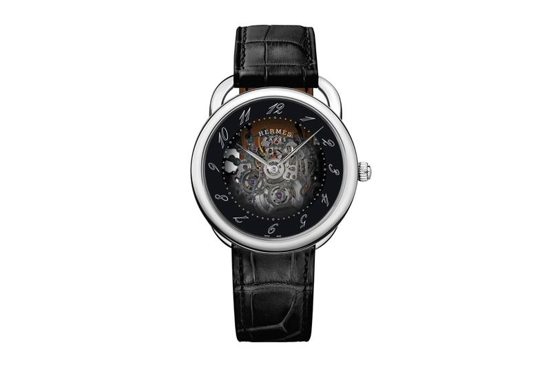 Hermès arceau squelette smoked sapphire crystal dial skeleton skeletonized movement watches accessories