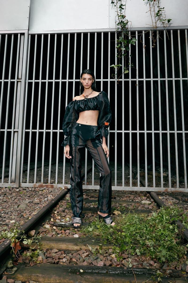 "Sami Miró x Heron Preston Spring/Summer 2020 ""Natural Disaster"" Collaboration Collection Denim Jacket Mesh Body Suit Upcycled Shirts Sweatpants Crewnecks Patchwork Dresses Skirts"