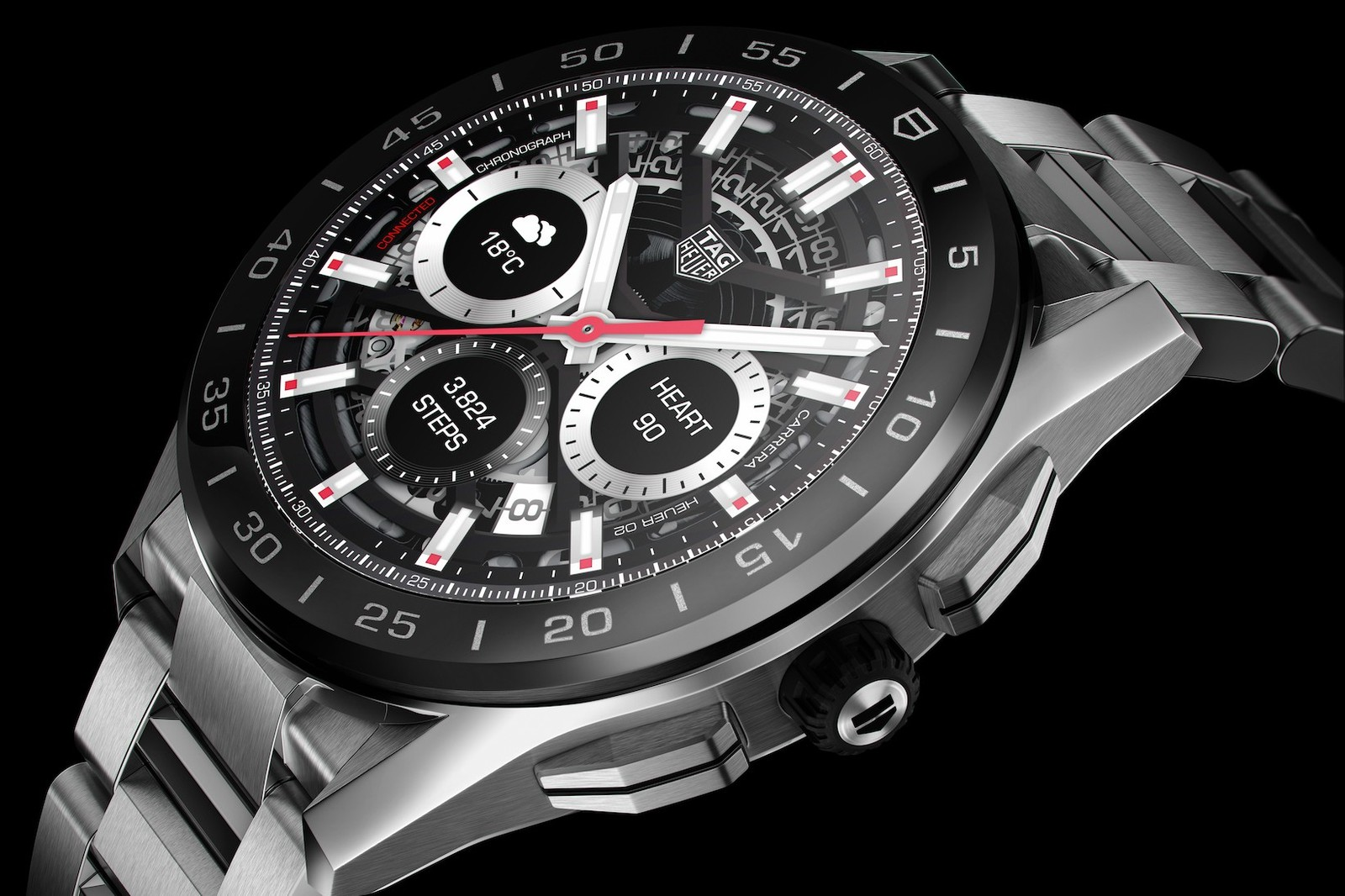 tag heuer new generation connected timepiece watch range sports performance technical physical digital sports