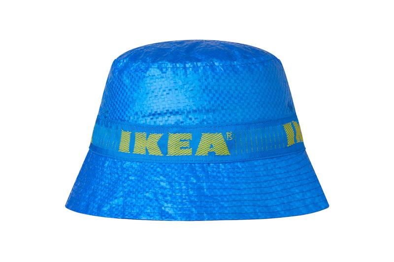 IKEA Drops Official KNORVA Bucket Hat fashion DIY project blue bags FRAKTA carrier bag price details drop