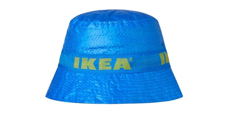 IKEA Drops Official KNORVA Bucket Hat fashion DIY project blue bags FRAKTA carrier bag price details drop