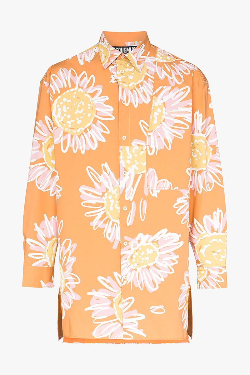 Jacquemus Spring/Summer 2020 Printed Men's Items patterned florals flower table still life illustration painting artwork ss20 shirts hoodie jacket pants jeans bags
