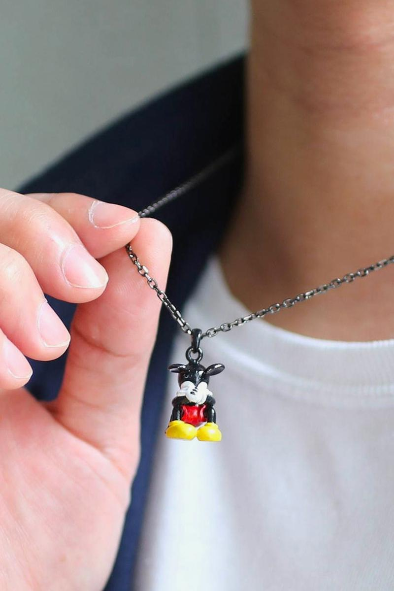 JAM HOME MADE Disney Mickey Mouse Disney Archive Parade japanese jewelry accessories rings necklaces menswear streetwear retro chains silver gold enamel collegiate black
