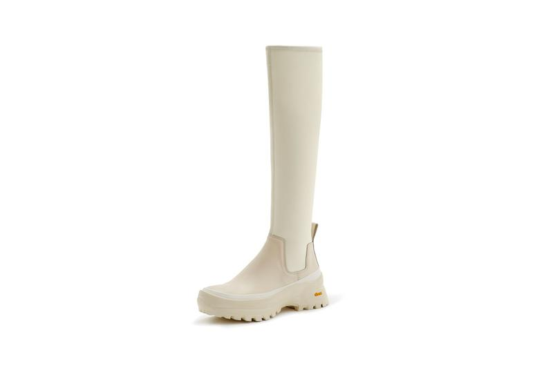 jil sander plus fall 2020 unisex accessory accessories collection release lug soled vibram boots bags cream off white