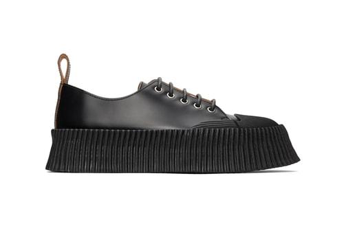 Jil Sander Drops Chunky Vulcanized Rubber Sole Sneaker