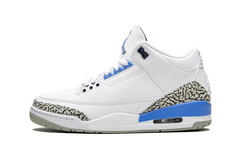 Jordan 3 Retro UNC valor blue white gray elephant michael jordan jumpman university of north carolina player edition