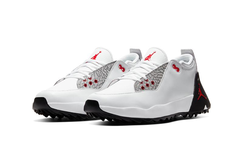 jordan brand adg 2 golf shoe white back atmosphere grey university red summit elephant print CT7812 001 100 release date info photos price