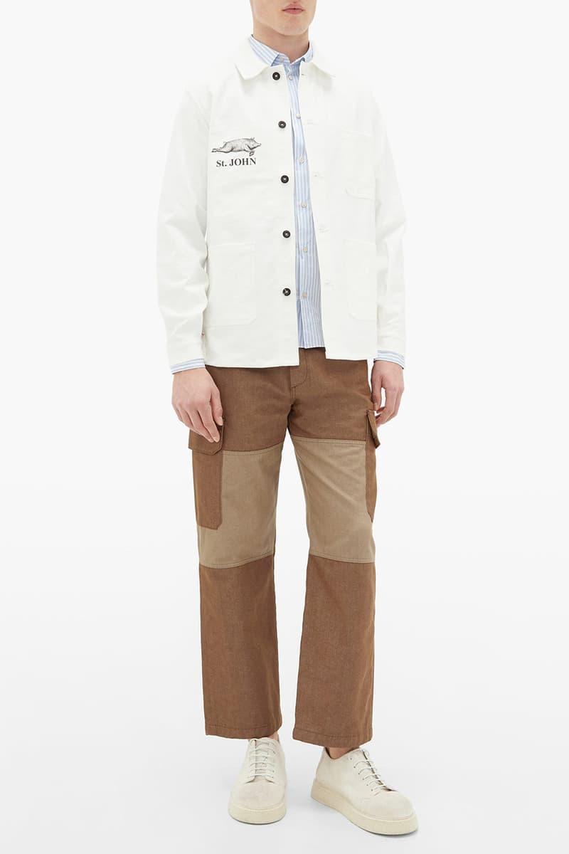 junya watanabe le labourer spring summer 2020 ss20 chore coat jacket white navy st john amsterdam tulip museum buy cop purchase release information detai