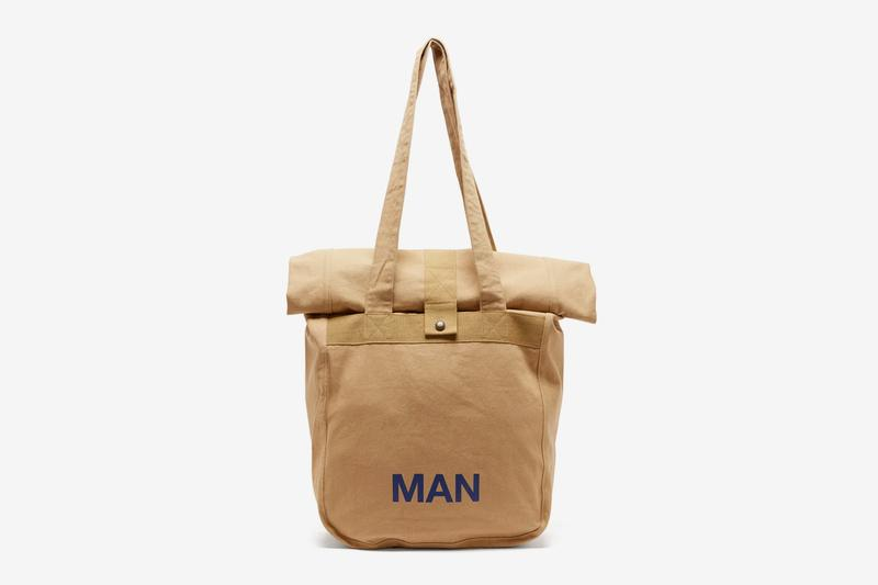 Junya Watanabe MAN Canvas Roll Top Tote Bag carrying solutions shoulder pouch compartment japanese designer spring summer 2020 collection accessories menswear streetwear
