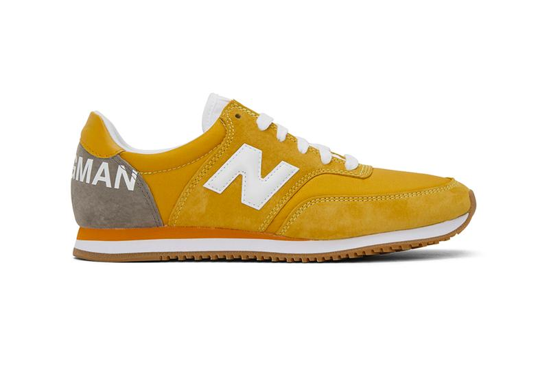 Junya Watanabe New Balance COMP 100 Yellow menswear streetwear sneakers shoes footwear spring summer 2020 collection leather suede kicks trainers runners japanese designer