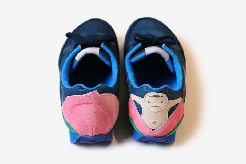 Kapital Momotaro Sneakers menswear streetwear shoes footwear trainers runners kicks japanese folklore kiro hirarta spring summer 2020 collection boy peach fairy tale ss20