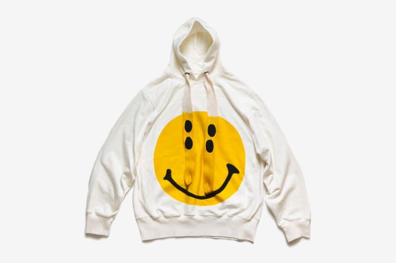 KAPITAL Oversized Smiley Hoodie menswear streetwear rain sweatshirt fleece pullover sweater terry cotton spring summer 2020 collection kiro hirata japanese designer graphics